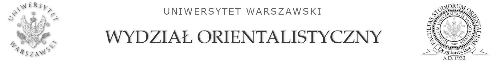 Wydział Orientalistyczny UW Logo