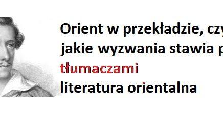 orient w przekładzie - tłumacze